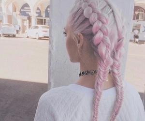 girl, pink, and hair image