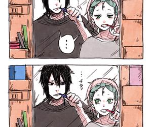 sakura, sasuke, and naruto image