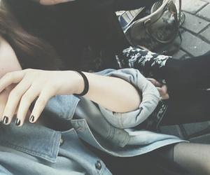 alternative, grunge girl, and black image