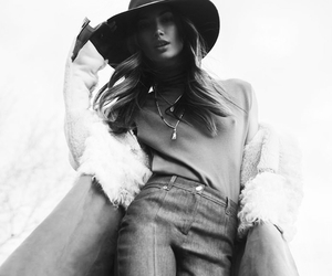 model, black and white, and Lily Aldridge image
