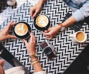 coffee, friends, and drink image