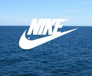 nike, sea, and blue image