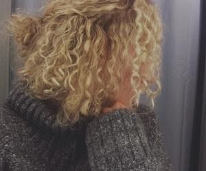 autumn, blonde, and bun image