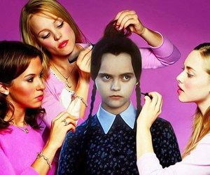 pink, mean girls, and funny image