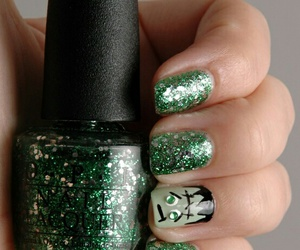 Frankenstein, Halloween, and nail image