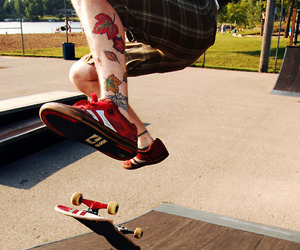 skate, tattoo, and boy image