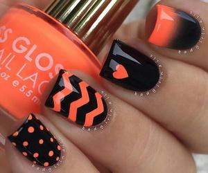 nails, orange, and black image