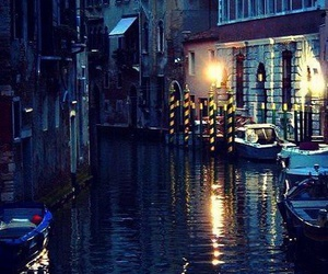 italy, night, and venice image