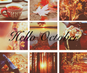 autumn, fall, and october image