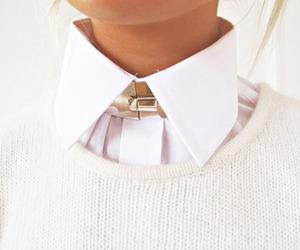 fashion, white, and collar image