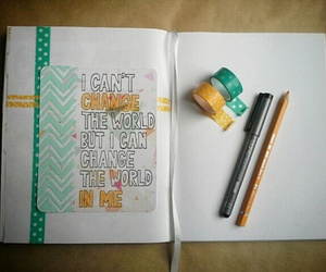book, creative, and turquoise image