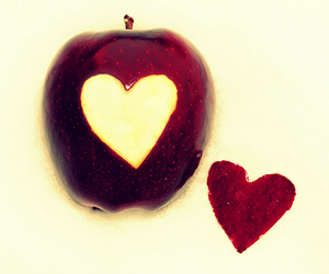 apple, hearts, and red image
