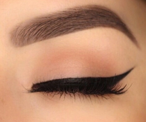 makeup, eyeliner, and eyebrows image