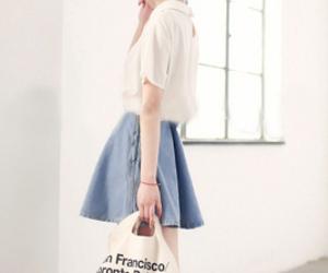 blue, fashion, and skirt image