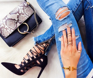 jeans, nails, and shoes image