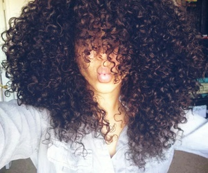 beautiful, black, and curls image