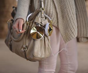fashion, bag, and headphones image