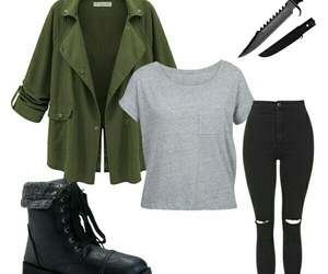 outfit, Polyvore, and teen wolf image