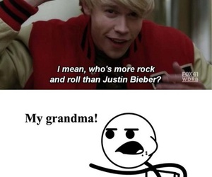 funny, glee, and justin bieber image