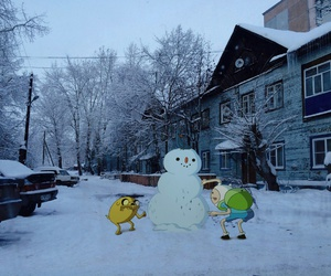 adventure time and winter image