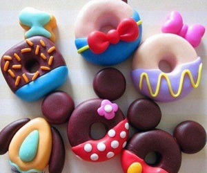 donuts, food, and disney image