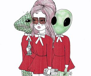 valfre, alien, and girl image