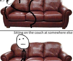 funny, couch, and lol image