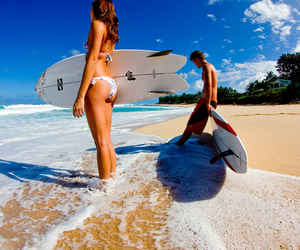 beach, surf, and summer image