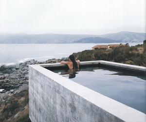 architecture, pool, and girl image