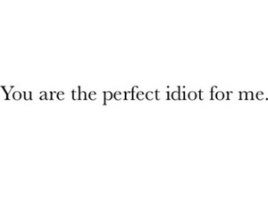 idiot, love, and quote image
