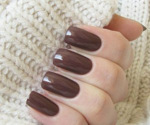 i like it, manicure, and brown nails image