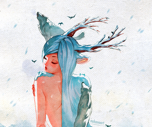 art, draw, and winter image