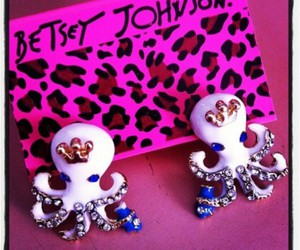 accessories, earrings, and betsey johnson image