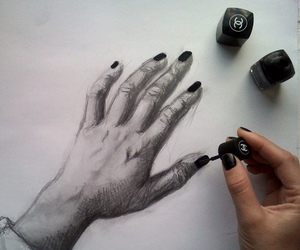 chanel, graphite, and manicure image