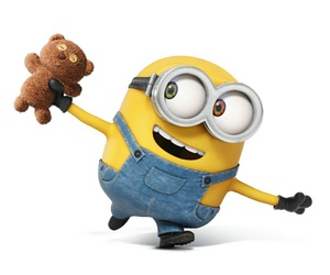 minions, bob, and bear image