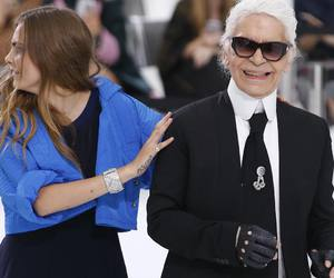 chanel, karl lagerfeld, and cara delevingne image