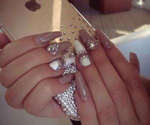 iphone, nail art, and nails image