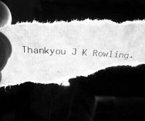 harry potter, jk rowling, and thank you image