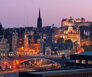 city, landscape, and scotland image