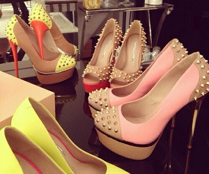girls, pink, and heels image