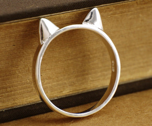 cat, fashion, and cat ring image