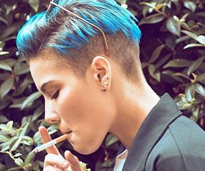 halsey, blue, and cigarette image