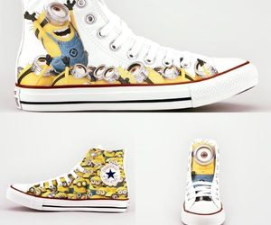all star, minions, and shoes image