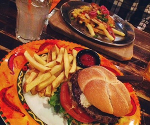 amarillo, burger, and cool image