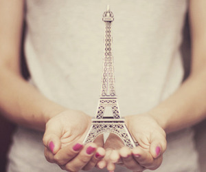 eiffel tower, hands, and photo image