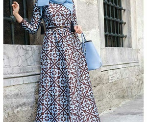 dress, hijab, and outfit image