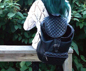 backpack, fall, and fashion image
