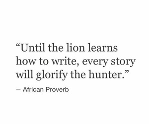 hunter, lion, and story image