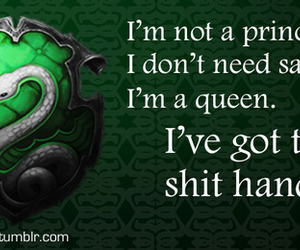 harry potter, slytherin, and Queen image