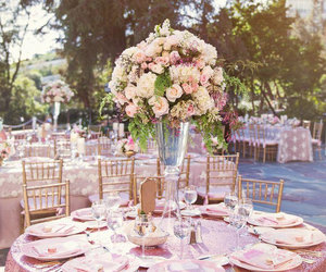 wedding, flowers, and girly image